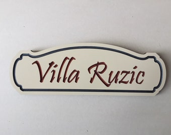 Small personalized sign