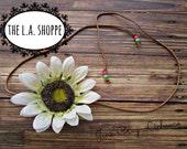 BIG Coachella Single Sunflower Headpiece