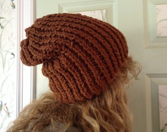 Rusty Brown Slouch Hat