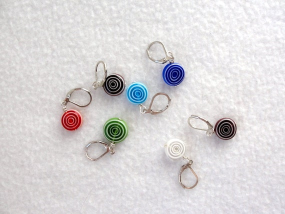 Knitting Stitch Markers Nz : Stitch Markers for Knitting and Crochet /ceramic spirals/