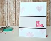 be mine valentine handmade card