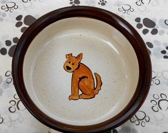 Poocher - Bowl in Chocolate Brown (Large)