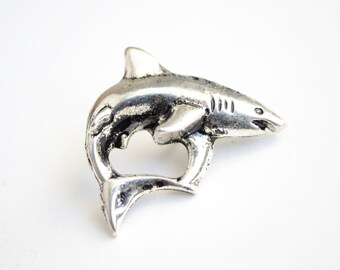 Shark Pin, Great White Tie Tack