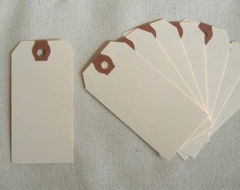 Manilla TAGS 100 SMALL place cards, escort cards, Paper tags, gift tags, blank tags, Wedding place cards  blank shipping tags, 1 3/8 x 2 3/4