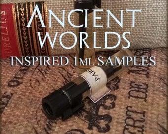 ANCIENT WORLDS 1ml Perfume Samples / vegan perfume oil / Goddess / Egyptian