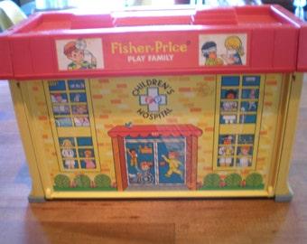 Vintage 1970's Children's Toy - Fisher Price Little People - Children's Hospital