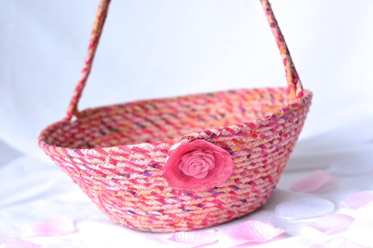 handmade easter baskets country easter basket handmade pink fiber basket unique 800
