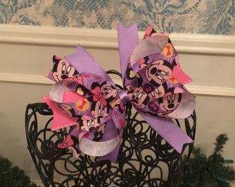 Purple Minnie Mouse Hair Bow - Disney - Minnie Mouse