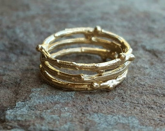 14K Gold Stackable Wedding Band Stack Ring Womens Wedding Band Stacking Rings 14K Stacking Wedding Ring Set 14K Stacking Wedding Bands Women