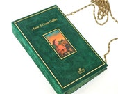 Anne of Green Gables Book Clutch, Book Purse, Green Velveteen