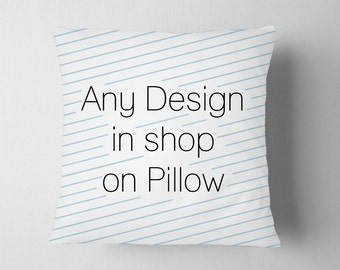 Create A Custom Pillow with Any Design in Zeppi Prints Shop
