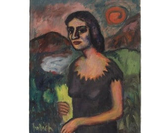 Fauvism Painting - Original Oil on Canvas - Signed Josef Hulich - FREE Domestic Shipping