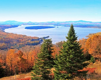 View From Above on Rangeley Lakes Scenic Byway in Maine