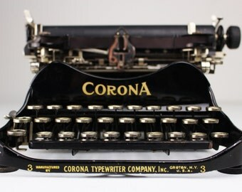 Vintage Corona No. 3 Folding Typewriter