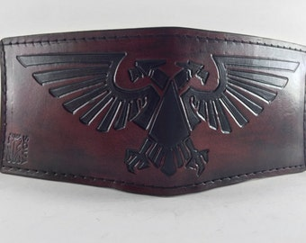Aquila - Mahogany - Hand Tooled Leather Wallet