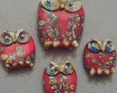 Give a hoot lampwork owls