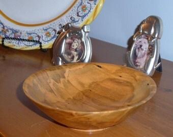 Wooden Ambrosia Maple Bowl - Handmade - Figured by Nature - Handmade - Wood Bowl