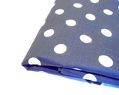 Classic Polka Dots, Navy & White Vintage Fabric, 1 yd Mystery Fabric, Sewing Material