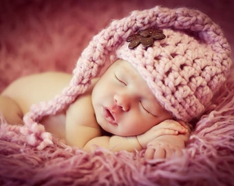 Newborn Baby Girl Photo Prop Elf Hat