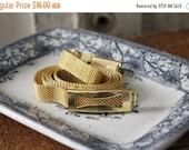 SHOP SALE VIntage Gold Tone Mesh Skinny Belt