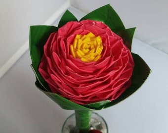 Beautiful Pink Duct Tape Rose