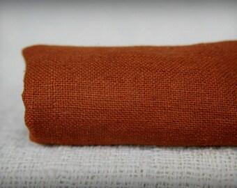 Maroon Raw Silk Fabric ~