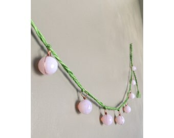 Pink And Green Garland