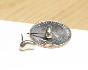 Sterling Silver Puff Stud Earrings Sterling Silver 925