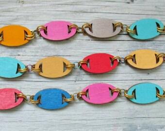 Reversible Linked Bracelets - Bright Colors