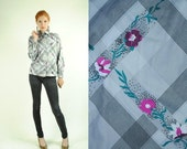 ON SALE 50% 70's Puccini FLORAL Vintage Blouse (S)