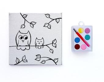 Owl Party Favors ~ Watercolor Paint Set