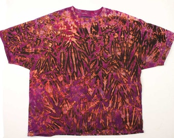 XXXL Shibori Men's T Shirt Purple Tie Dye