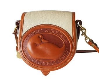 Dooney & Bourke Big Duck Bone and British Tan AWL Crossbody Shoulder Bag