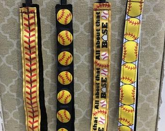Softball No-Slip Headband, Softball Glitter Headband, No-slip Headband, Softball Headband, No-Slip Headband, Sport Belle Band