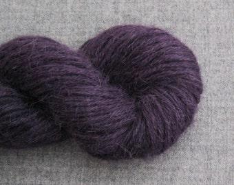 Reclaimed Alpaca Recycled Yarn, Deep Plum Purple, 160 Yards, Lot 170116