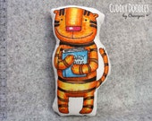 soft fabric toy GEORGE THE TIGER