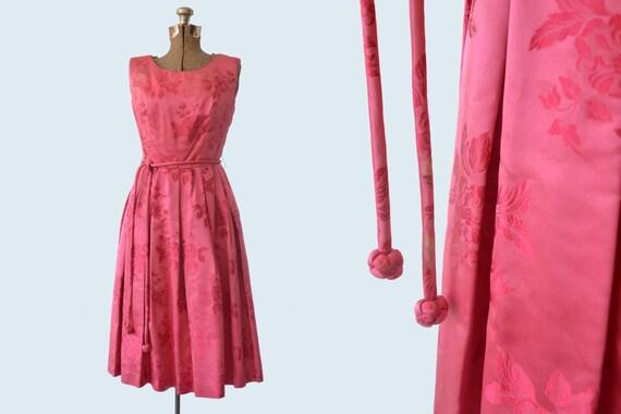 1950s Pink Silk Dress size S