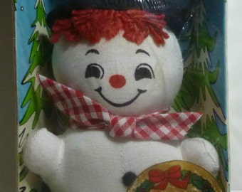 Knickerbocker Vintage Snowman Holiday Miniature, 1973