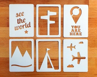 """See The World 3x4"""" Die Cut Cards, Travel Pocket Scrapbooking, Filler Cards, Journaling Cards, Scrapbooking Embellishments, Everday Die Cuts"""
