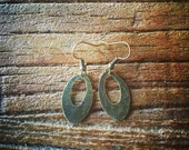 Antique Bronze Hammered Metal Earrings