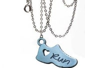Running jewelry - Running necklace - Gifts for runners  - running shoes