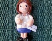 acupuncturist ornament female handmade bread dough