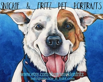 Custom Pet Portraits on 16x20 Canvas Painted from your photographs Dog Art portrait home decor dog lover