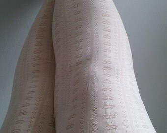 White Cream Tights Skinheadgirl stockings pantyhose suededead