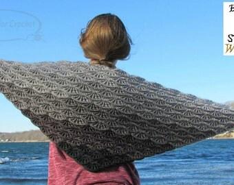Gray Skies Gradient Shawl Crochet Pattern PDF 226