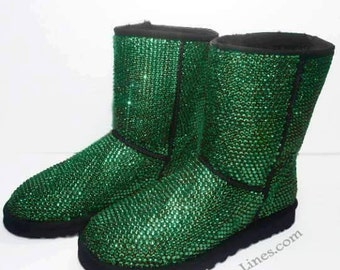 Custom Classic Tall UGG Boots made with Swarovski Crystals