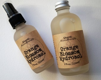 Orange Blossom Hydrosol - Orange Blossom Distillate -2oz or 4oz