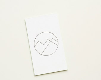 Custom Extra-Thick Letterpress Business Card with Edge Painting
