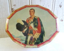 Vintage 1936 King Edward VIII Ascension Tin - Commemorative Tin - Hinged Lid - British Royal Family Collectable