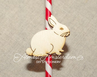 10 to 30 Bunny Decorations or Bunny Embellishments or Bunny Cutouts for Invitations and Stationery